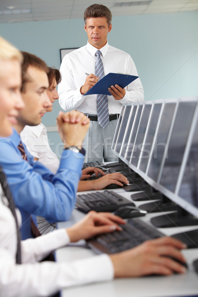 Computer studies Stock photo © pressmaster