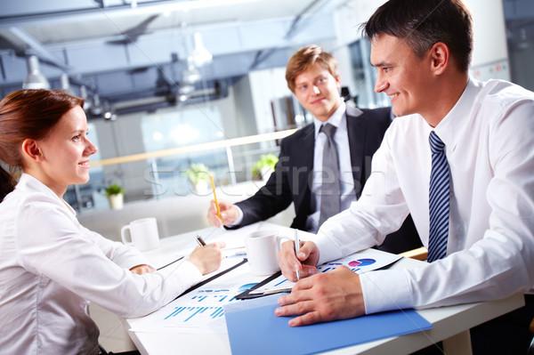 Positivo pessoas de negócios afetuoso mulher Foto stock © pressmaster