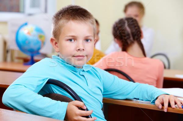 Fiatalos portré okos legény munkahely osztálytársak Stock fotó © pressmaster