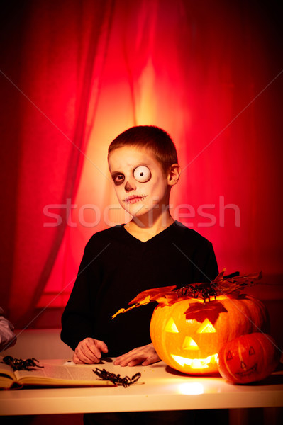 Spooky lad Stock photo © pressmaster