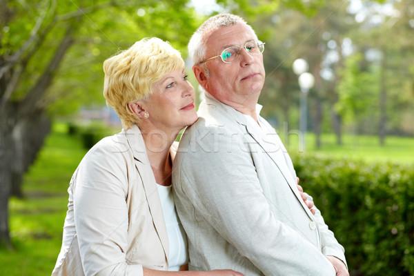 Park rijpe vrouw echtgenoot vrouw liefde persoon Stockfoto © pressmaster