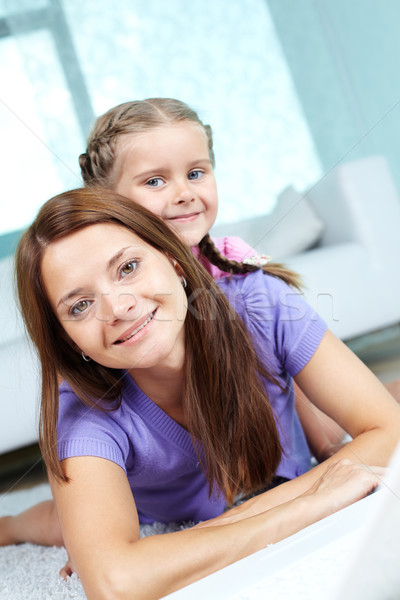 Female with daughter Stock photo © pressmaster