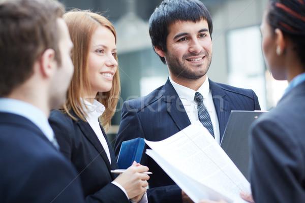Onderhandelingen groep onderhandelen vergadering business Stockfoto © pressmaster
