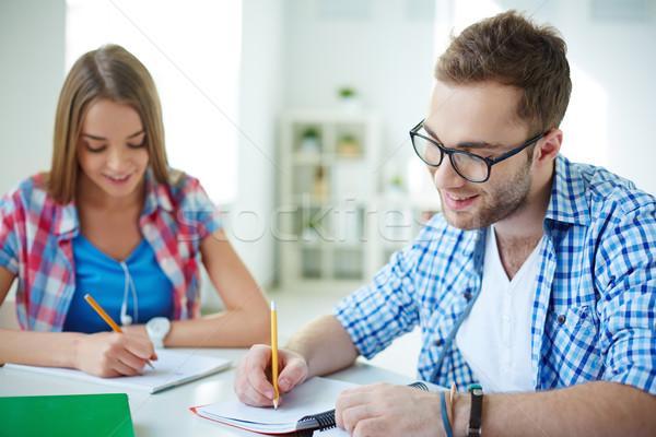 Сток-фото: Дать · испытание · успешный · студент · из