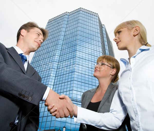 Foto stock: Firma · contrato · imagen · empresario · mujer