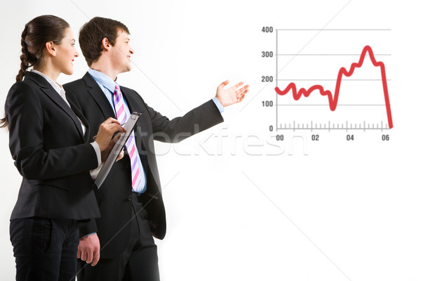 Demonstráció portré sikeres üzletember projekt nő Stock fotó © pressmaster
