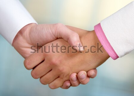 Deal afbeelding partners handdruk ondertekening contract Stockfoto © pressmaster