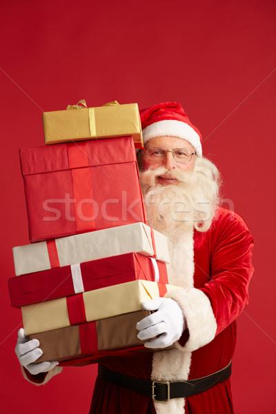 Noel gelenek noel baba bakıyor kamera Stok fotoğraf © pressmaster