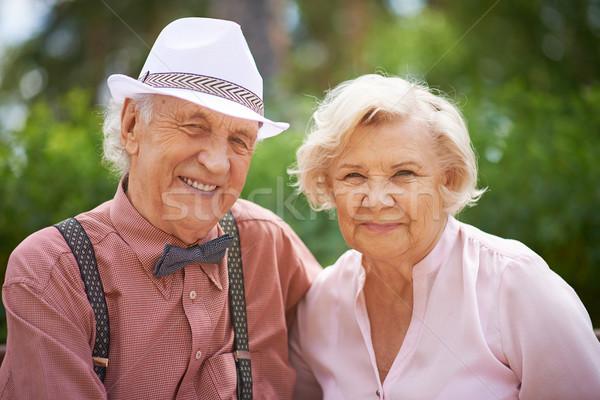 Faces of happy seniors Stock photo © pressmaster