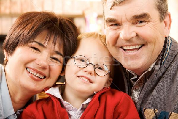 幸福 肖像 幸せ 祖父母 孫 笑みを浮かべて ストックフォト © pressmaster