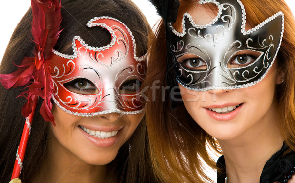Women in masks Stock photo © pressmaster