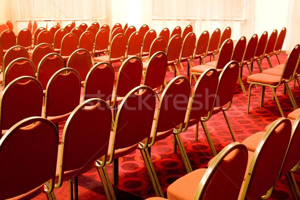 Boş görüntü kırmızı konferans salon Stok fotoğraf © pressmaster