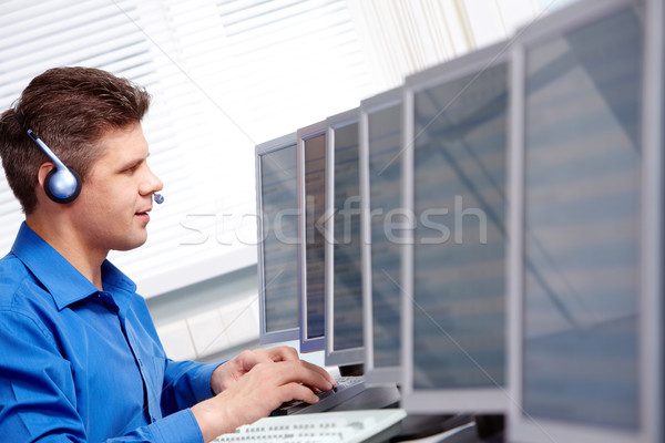 Stock photo: In the computer class