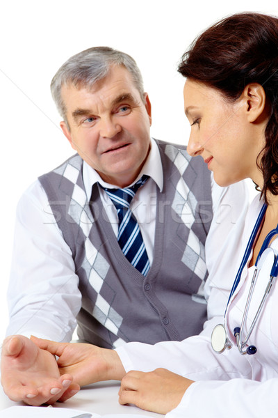 Clinician and patient Stock photo © pressmaster