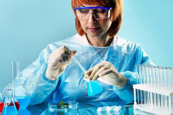 Labor Biologie weiblichen Forscher Studium Probe Stock foto © pressmaster