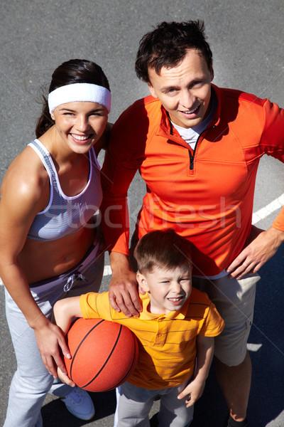 Foto stock: Basquetebol · jogadores · retrato · família