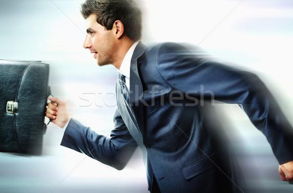 Prisa retrato empresario negocios hombre ejecutando Foto stock © pressmaster