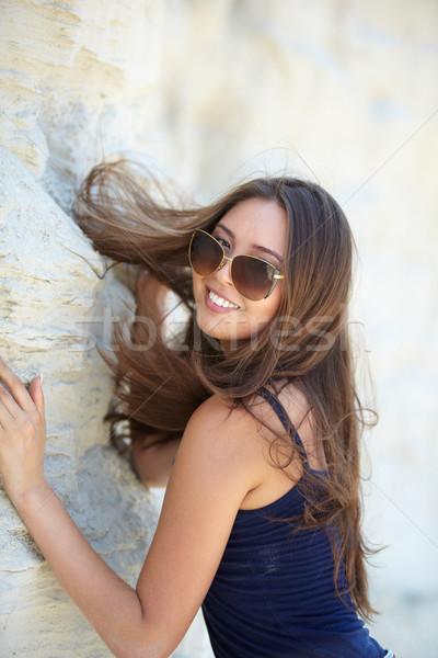 Cool fille vertical portrait beauté Photo stock © pressmaster