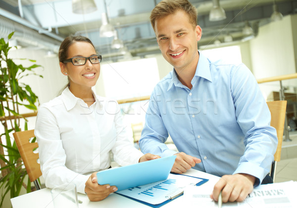 Modernes gens d'affaires portrait jeunes confiance succès Photo stock © pressmaster