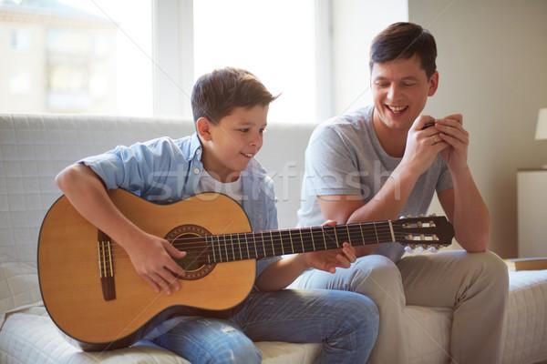 Stock photo: Playing guitar