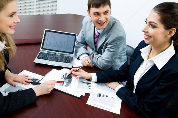Foto stock: De · trabajo · interacción · retrato · negocios · personas