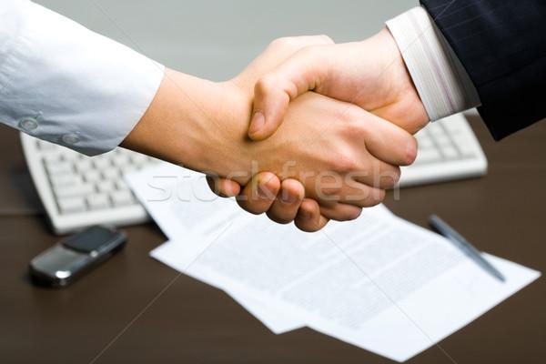 Stock foto: Erfolgreich · viel · Menschen · Händeschütteln · Geschäftstreffen · Hintergrund