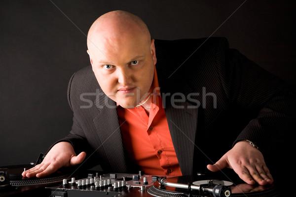 Foto stock: Jogar · clube · música · retrato · grande · homem