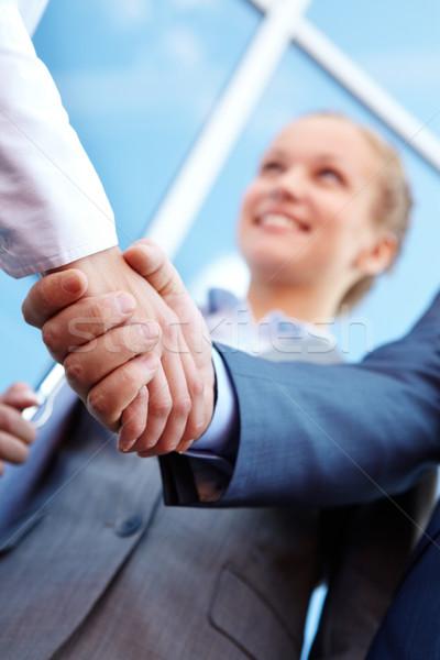 Foto stock: Socios · foto · exitoso · acuerdo · aire · libre