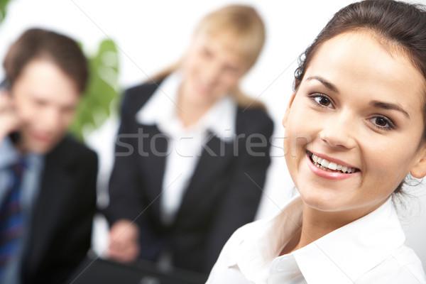 Stock fotó: Boldogság · portré · vonzó · boldog · üzlet · vezető