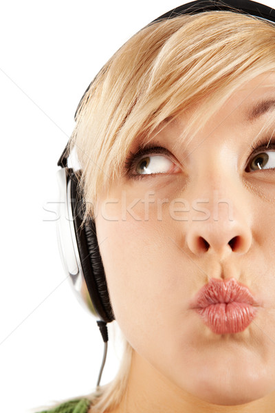 Girl in headphones Stock photo © pressmaster