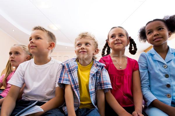 Aandachtig leerlingen portret naar les Stockfoto © pressmaster