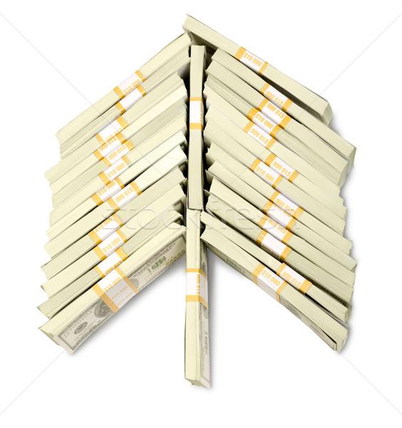 Foto stock: Imagen · dólar · billetes · forma · árbol