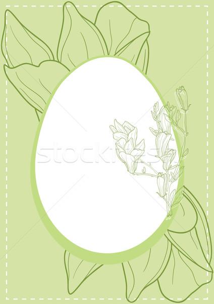 Simbolismo easter egg verde design vernice uovo Foto d'archivio © pressmaster