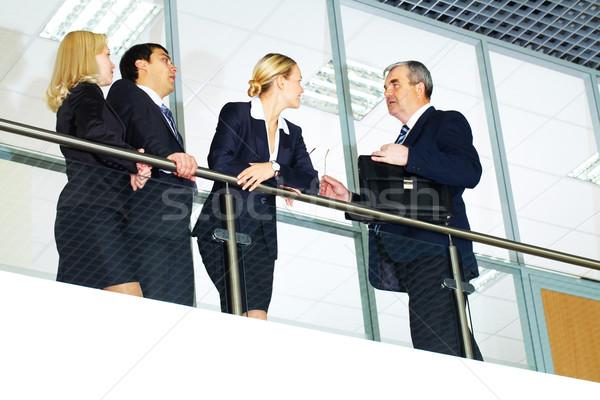 Stock fotó: Párbeszéd · csoport · üzletemberek · idős · főnök · üzlet