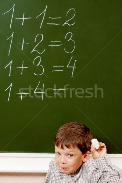 By the blackboard Stock photo © pressmaster