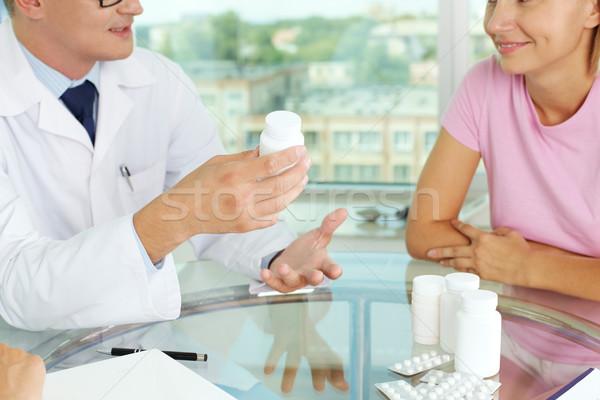Vitamins and tablets Stock photo © pressmaster