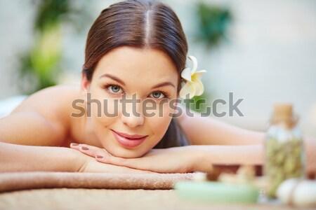 Fim de semana você mesmo retrato mulher estância termal Foto stock © pressmaster