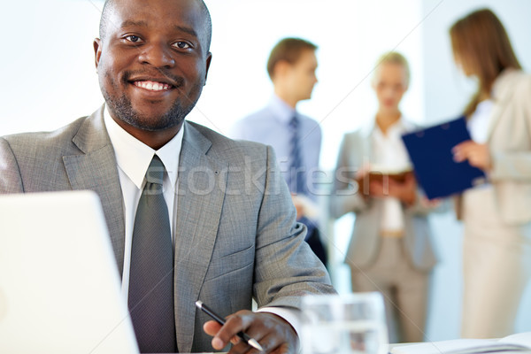 Geslaagd leider portret gelukkig baas naar Stockfoto © pressmaster