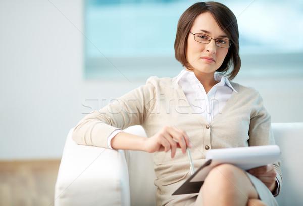 Személyes tanácsadó portré barátságos kész elvesz Stock fotó © pressmaster