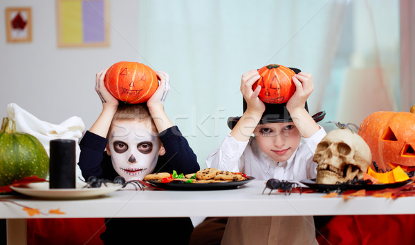 Halloween twins Stock photo © pressmaster