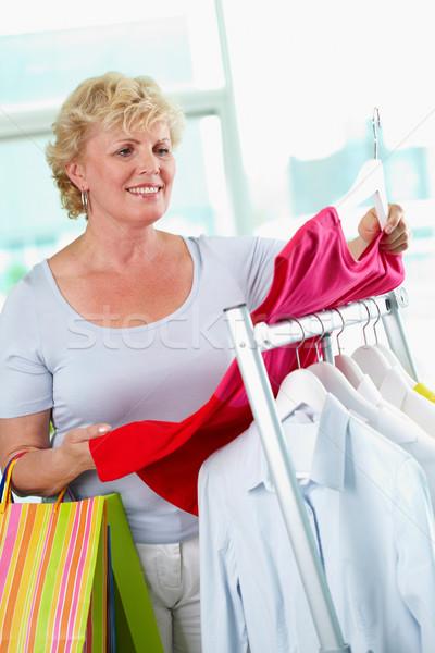 Shopper with tanktop Stock photo © pressmaster