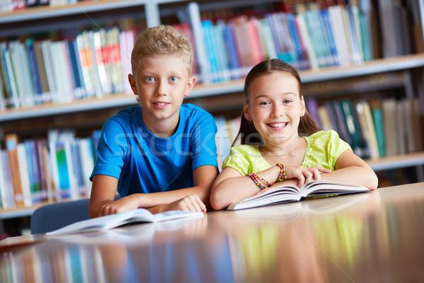 Сток-фото: Одноклассники · портрет · Cute · школьников · глядя · камеры