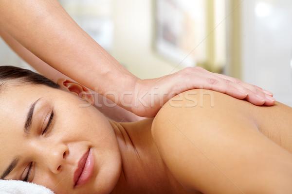 Kellemes terápia portré fiatal higgadt női Stock fotó © pressmaster