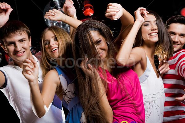Stock fotó: élvezet · cég · derűs · tinédzserek · élvezi · tánc