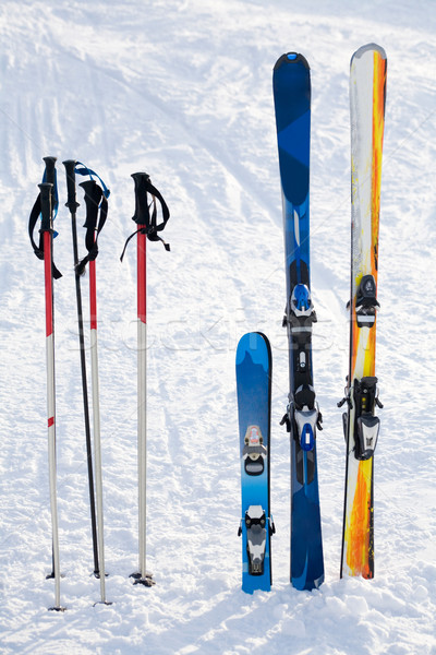 Skiing equipment Stock photo © pressmaster