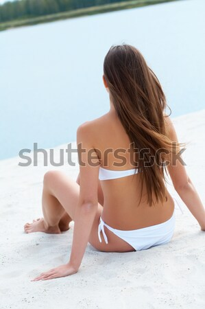 Elegant sunbather Stock photo © pressmaster