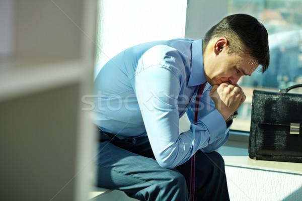 Işadamı sorun portre adam oturma Stok fotoğraf © pressmaster