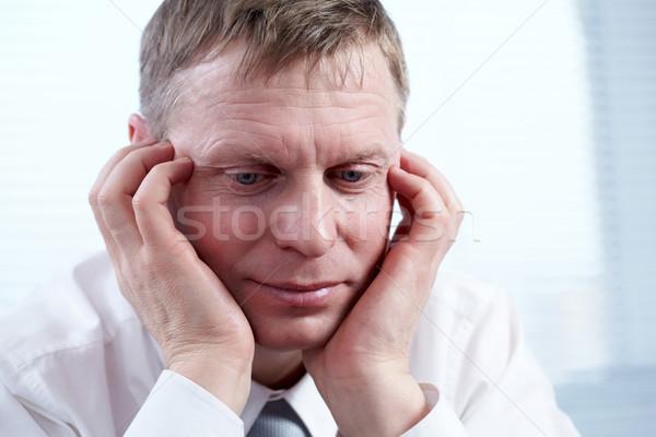 Problémás férfi közelkép üzletember arc dolgozik Stock fotó © pressmaster