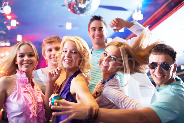 Сток-фото: танцы · вечеринка · портрет · девочек · счастливым