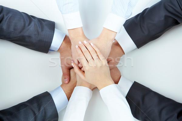 поддержки изображение деловые люди рук Top другой Сток-фото © pressmaster